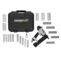 Powerplus POWAIR03118,3 bar Schwarz, Silber-Druckluftnagler (16-40mm, 8,3bar, 78,68L, Schwarz, Silber)
