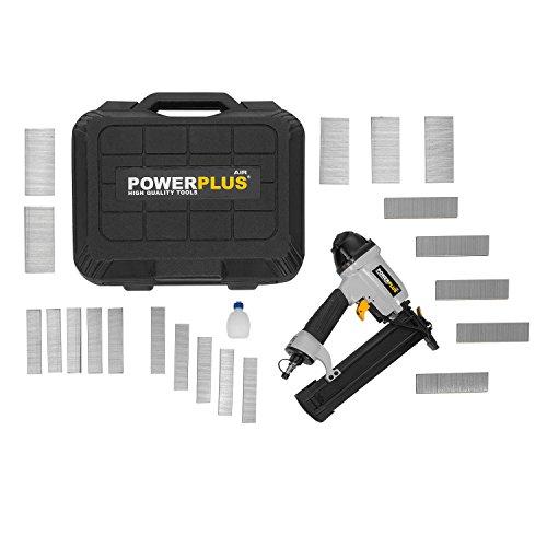Powerplus POWAIR03118,3 bar Schwarz, Silber-Druckluftnagler...