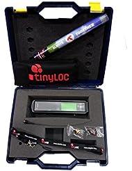 TINYLOC Pack maletín completo de telemetría UHF cetrería, 433-434 MHz