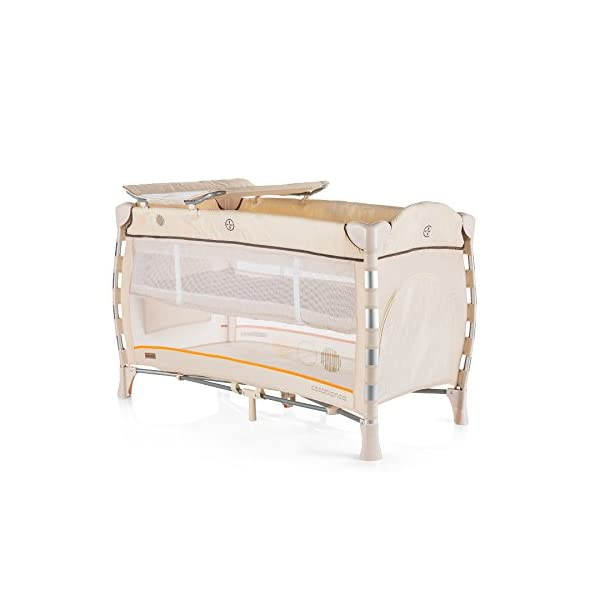 Chipolino Baby Playpen Casablanca Neo, Beige Chipolino Includes a soft luxurious changing mat Side entrance with zipper creates additional comfort for the child Practical side storage for diapers and other accessories 2