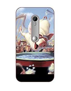 Happoz Designer Cute Cartoon Disney Hard Back Case for Motorola Moto G3 D267