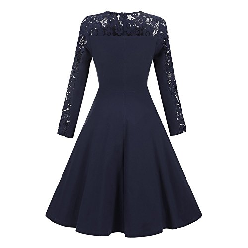 Robes Femmes,♔Homebaby♔ Femme Robe de Soirée Femme Robe de Dentelle Robe Élégant Robe Hepburn Style Femme Robe de Soirée pour Anniversaire/Soirée Cérémonie Vin