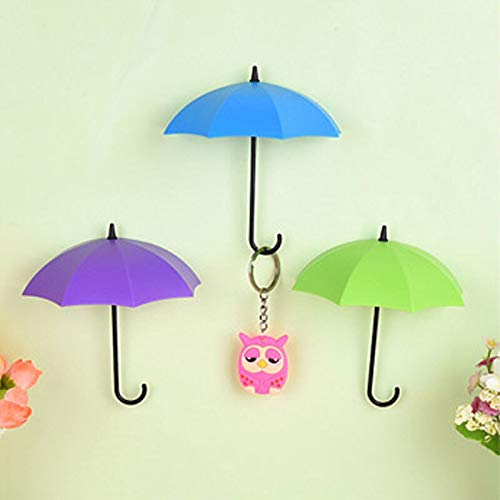Umbrella Holder - 3pcs Lot Umbrella Shaped Key Rack Hanger Wall Hook Holder Bathroom Decoration - Remote Quran Office Shower Notebook Sunglass Navigation Yard Powder Holder States Nurse S