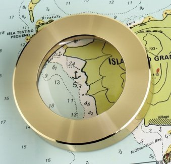 Weems & Plath Marine Navigation Magnifier Chart Weight (Brass) by Weems & Plath -