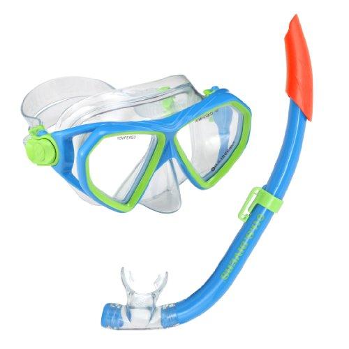 us-divers-childrens-kids-dorado-jr-mask-sea-breeze-jr-snorkel-one-size-fun-blue