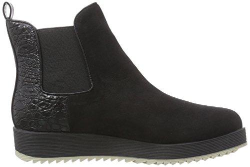 La Strada Schwarze Suède Look Damen Chelsea Boots Schwarz (1501 - black micro)
