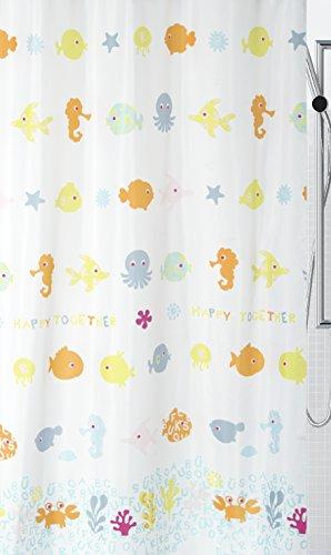 Spirella, Tenda da doccia in poliestere, 180 x 200 cm, Multicolore (Bunt)