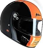 AIRBORN casco integral full ride, Negro/Bde