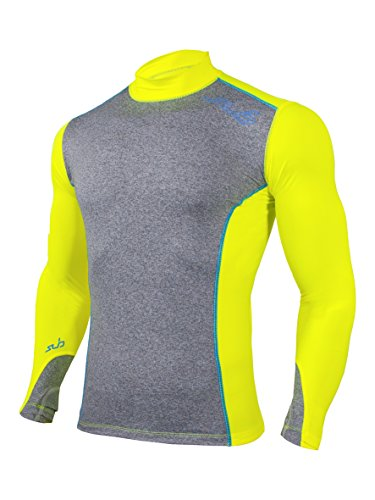 Sub Sports Fitted Cold Mens Thermal Mock Neck Fitted Baselayer Top Winter