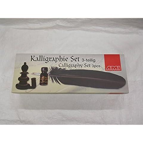 Nuovo Set di calligrafia 3pezzi con piuma
