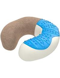 Bonmedico® cuscino ortopedico in memory foam, cuscino cervicale / cuscino da viaggio - Utilizzabile a casa o in ufficio