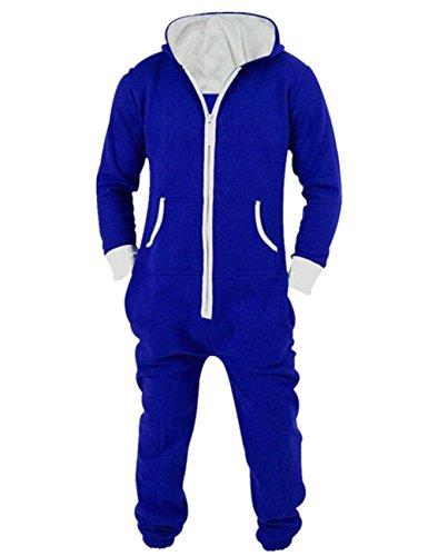 n Damen Fleece Onesie Jumpsuit Overall mit Kapuze Gefüttert Reißverschluss Vorne Trainingsanzug (Benutzerdefinierte Kostüme Für Frauen)