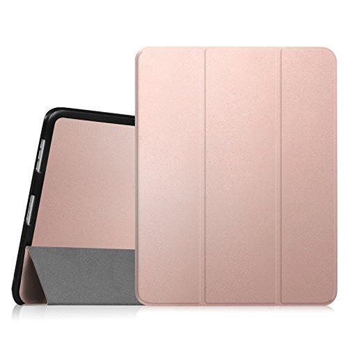 Fintie Apple iPad 1 Hülle Case - Ultra-schlank superleicht Ständer SlimShell Cover Schutzhülle Etui Tasche für iPad 1st Generation, Roségold - Case Apple Ipad 1
