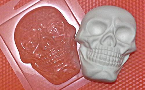 1pc Schädel Menschlichen Scary Gothic Halloween-Kopf-Kunststoff-herstellen von Seife Wachs Schokolade Gips-Käse-Cookies, Gelatin Mold Casting-Nahrungsmittelgrad-Form