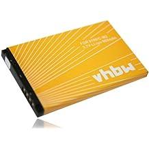 vhbw Li-Ion batería 900mAh (3.7V) para teléfono móvil smartphone Blackberry 8100c, 8100, 8100r, 8110, 8120, 8130, 8130B, 8220 y C-M2, BAT-11004-001.