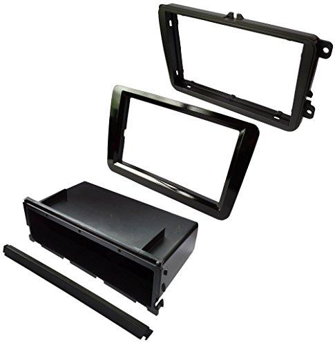 Mascherina adattatore autoradio telaio 1 DIN o doppio 2 DIN nero . Aerzetix