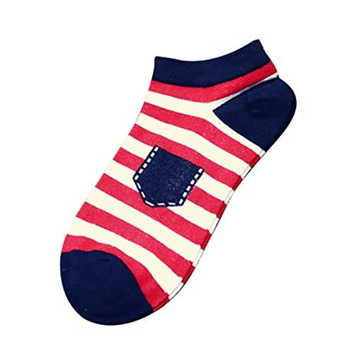 falke tk1 cool MOIKA Herren Sportsocken Falke,Unisex-Streifen-Baumwoll-Skateboard-Socken-Bequeme Socken Casual Socken