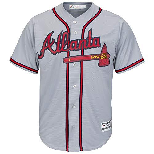 Majestic Atlanta Braves Cool Base MLB Trikot Jersey Road grau (XL) (Mlb Bekleidung)