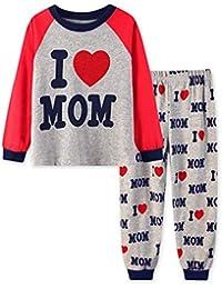 8e4d5df115 Hibote Kids Cotton Pigiama Ragazzo Ragazza Warm Autunno Inverno Sleepwear  Pantaloni e Manica Lunga Camicie Pajamas