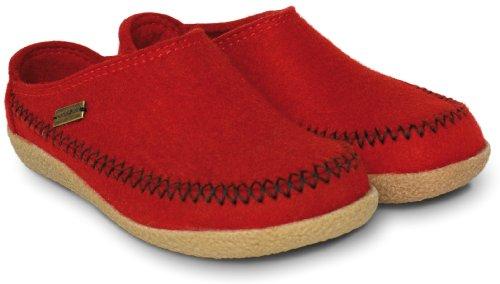 HaflingerCredo - Pantofole basse Uomo Rosso (Rubin)