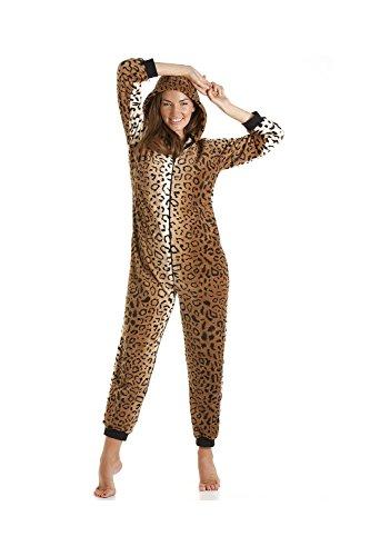 Schlafanzug Leoparden-Muster aus Fleece –  Gold/Braun - 5
