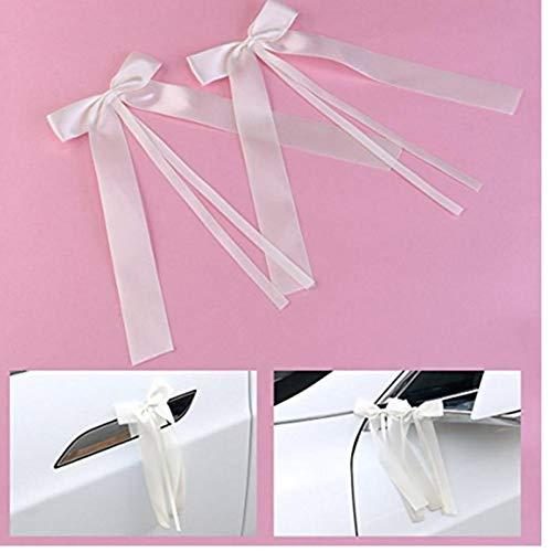 Empfindliche Hochzeit Pew End Dekoration Bowknots Partei Autos Stühle Dekoration Bowknots Band beugt ()