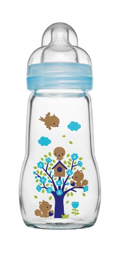 MAM Babyartikel, Biberon in vetro, Blu (Blau), 260 ml