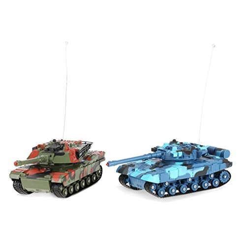 ALLCACA 1:24 Infrarot RC Kampfpanzer Fernbedienung Tanks Lebensechte Crawler Tank Spielzeug für Kinder, 2er Set - Schönheit Tank
