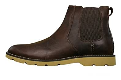Sperry Shipyard Chelsea hommes Cuir Boots - Brown - SIZE UK 9.5