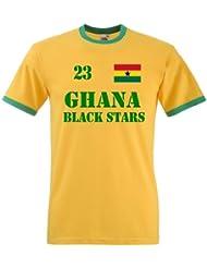 Ghana Black Stars Herren T-Shirt Retro Trikot Nr.23