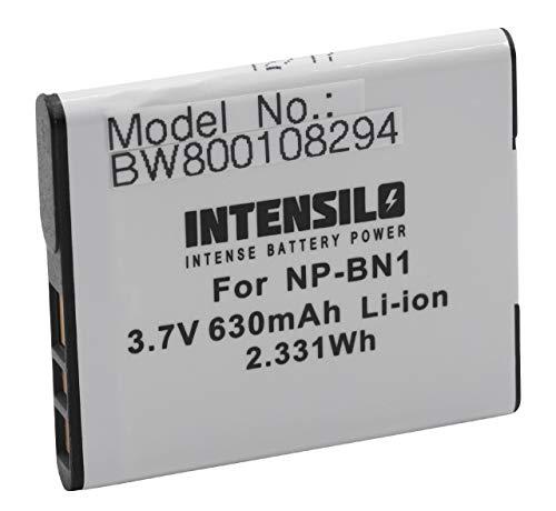 Batteria INTENSILO Li-Ion 630mAh (3.7V) per Video Sony Cybershot DSC-W710, DSC-W730, SC-W810, DSC-W830, DSC-WX5, DSC-WX7 sostituisce NP-BN1.