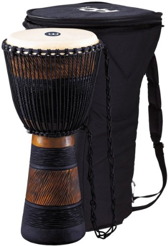 meinl-adj4xl-13-inch-djembe-with-bag-black