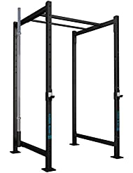 CAPITAL SPORTS Dominate Edition Set 5 Jaula cross training (4 pilares verticales 228cm, 1 barra doble 110cm, 4 traviesas laterales, soporte barra pesas 50mm, 2x gancho J, gran estabilidad)