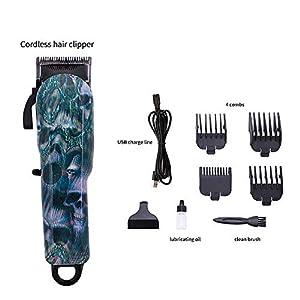 Haarschneidemaschine Akku-Wiederaufladbare Graffiti Retro Ölkopf Clipper Einstellbare Stahl Cutter Head Electric Für Männer Jungen