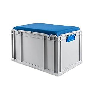 Eurobox Seat Box, Griffe geschlossen, 600x400x320mm, 1 St, blau