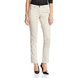 Arrow Women's Pleat Front Pants (ATQW13013_Light Brown_32)