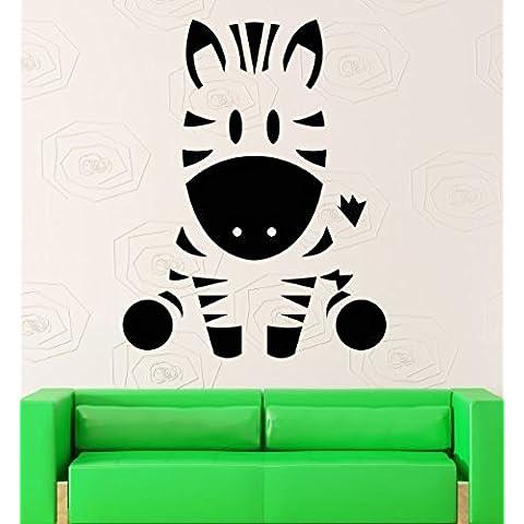 GGWW Wall Stickers Vinyl Decal Baby Zebra Animal Decor For Nursery Room (Z2058I)