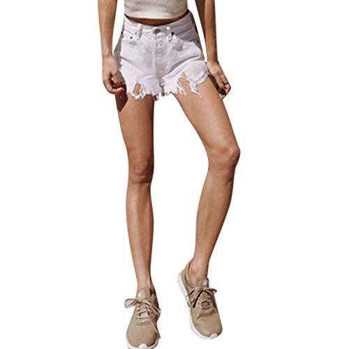 Women's High Waist Shorts Frayed Raw Hem Ripped Denim Jean Shorts Casual Denim Shorts (Size Girl Fancy Plus School Dress)