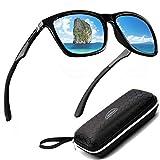 Perfectmiaoxuan Gafas de sol para hombre mujer polarizadas/Ciclismo El golf Conducción Pescar Alpinismo Gafas vintage/Deportes al aire libre gafas de sol de playa UV400 (blue)
