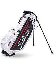 TITLEIST Golftasche Players 4 + StaDry. Farbe Schwarz/Weiß/Rot, Herren, Einheitsgröße