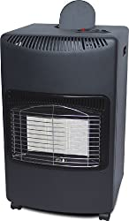 NEW 4.2KW CALOR GAS PORTABLE CABINET HEATER FIRE BUTANE WITH REGULATOR & HOSE