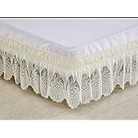 Falda de la Cama del cordón,Casa Falda de Cama,Banda elástica Falda de