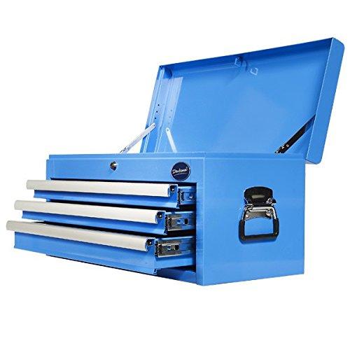 Werkzeugkiste mit 3 Schubladen und Ablagefach - Blau