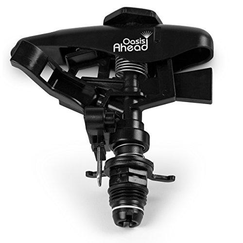 """Scopri offerta per Oasis Ahead Q-250, testa per irrigatore per prato, di plastica, con attacco filettato da 1/2"""", getto pulsante a lunga distanza, per irrigazione del giardino fino a 360°"""
