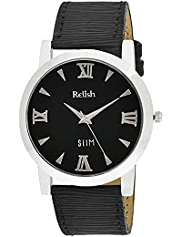 RELISH RE-S8021SB SLIM Black Dial Analog Watch For Mens & Boys