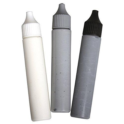 RAYHER 38847000 Set Sockenstop Weiß, Grau, schwarz, inklusive Schablone und Rakel, PVC-Box