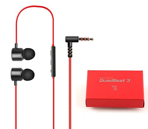 LG QuadBeat 3 LE630 In-Ear-Kopfhörer LG G4 G3 Original Ohrhörer Rot 3.5mm Ohr-Jack-Anschluss für Apple iPhone 6 6S 6+ 6S + Plus LG G3 G4 Samsung Galaxy S5 S6 Edge Note 3 4 5 Sony Z3 + Z4 Z5 IOS Android (Android-lg G3)