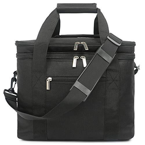 Oflamn Große Kühltasche Leichte Praktische Picknicktasche für Grillen, Wandern, Ausflüge, Urlaub 20L (Schwarz) (Große Milch-kiste)