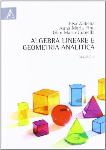 Algebra lineare e geometria analitica: 2