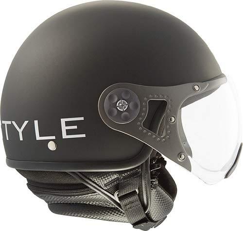 Steelbird SB-27 Style Open Face Helmet (Black) 600MM With MJ Brand 5 mukhi Rudraksh